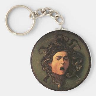 Chaveiro Caravaggio - Medusa - trabalhos de arte italianos