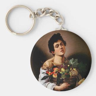 Chaveiro Caravaggio - menino com uma cesta de trabalhos de