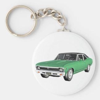 Chaveiro Carro verde do músculo 1968
