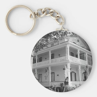 Chaveiro Casa do Victorian em preto & no branco