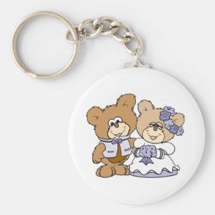 Chaveiro casal bonito do casamento do urso de ursinho do li d590b53b0a
