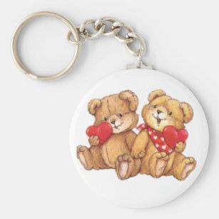 Chaveiro Casal bonito dos namorados do urso de ursinho 0ee01be688