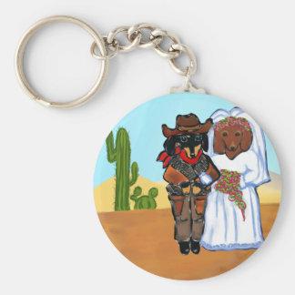Chaveiro Casamento do vaqueiro de Doxie