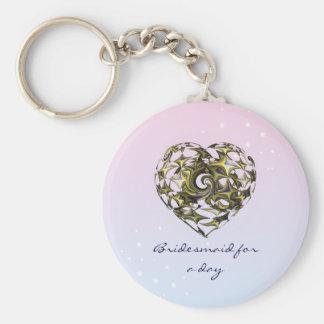 Chaveiro Casamento entrelaçado do coração do amor