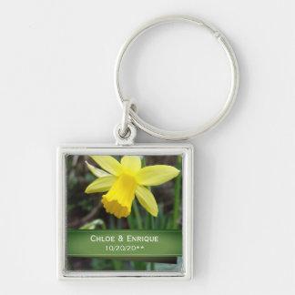 Chaveiro Casamento personalizado do foco Daffodil macio