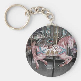 Chaveiro Cavalo cor-de-rosa do carrossel