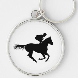 Chaveiro Cavalo e jóquei