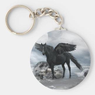 Chaveiro cavalo preto de Pegasus
