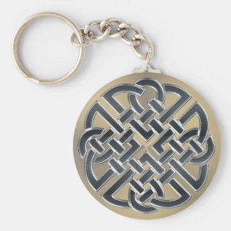 Black and Bronze Metal Celtic Knot Keychain