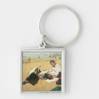 Chaveiro Cena da praia de Edgar Degas |