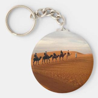 Chaveiro Cenário bonito do deserto da caravana do camelo