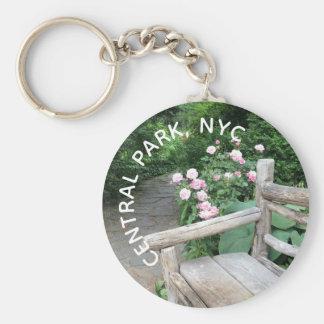 Chaveiro Central Park NYC dos rosas do banco do jardim de