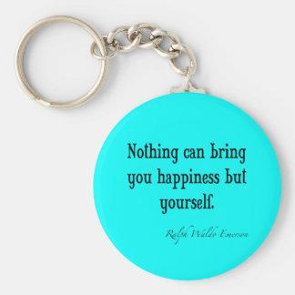 Chaveiro Cerceta azul de néon das citações da felicidade de