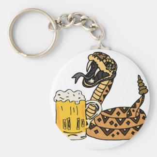 Chaveiro Cerveja engraçada do bebendo do cascavel