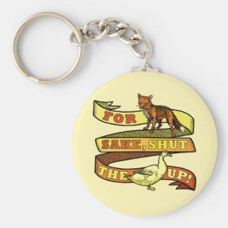 Chaveiro Chalaça engraçada do animal do pato do Fox