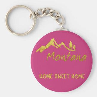 Chaveiro Chave Home doce Fob da montanha de Montana da casa