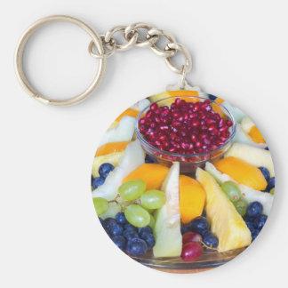 Chaveiro Cheio de vidro da escala de várias frutas frescas