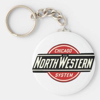 Chaveiro Chicago & logotipo do noroeste 1 da estrada de
