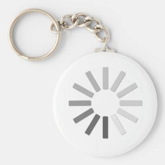 chaveiro cinzento do símbolo da carga do computado