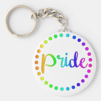 Chaveiro Círculos do arco-íris do orgulho