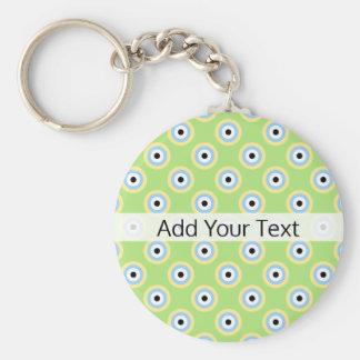 Chaveiro Círculos verdes da combinação por Shirley Taylor