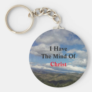 Chaveiro Citações do ar livre: Eu tenho a mente do cristo