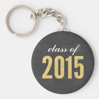 Chaveiro Classe do quadro do brilho do ouro da graduação
