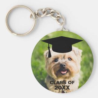 Chaveiro Classe personalizada da foto do cão graduação