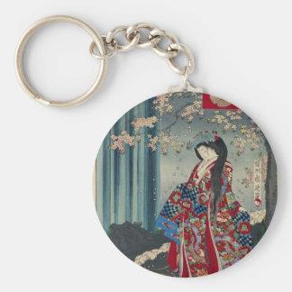 Chaveiro Clássico legal da arte japonesa da senhora Japão
