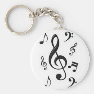 Chaveiro claves musicais