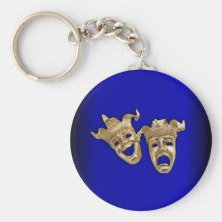 Chaveiro Cobalto das máscaras do teatro da comédia e da