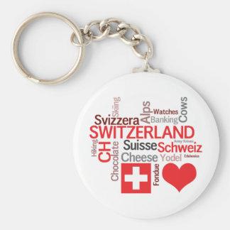 Chaveiro Coisas suíças favoritas - suiça do amor de I