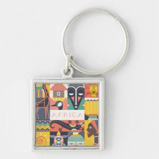 Chaveiro Colagem simbólica africana da arte