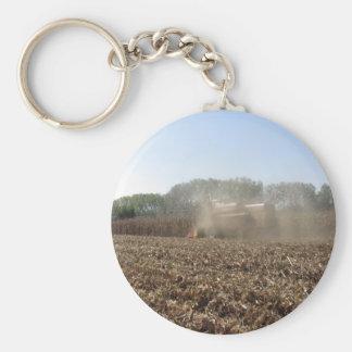 Chaveiro Colheita do milho da colheita mecanizada no campo