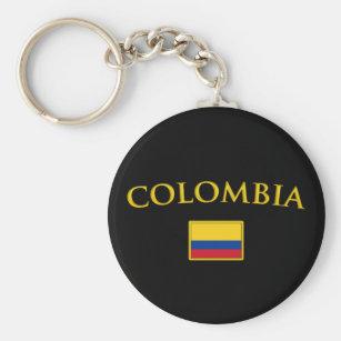 Chaveiro Colômbia dourada