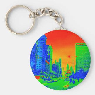 Chaveiro Colorido de néon da noite 1967 da avenida de