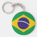 Chaveiro com a bandeira de Brasil