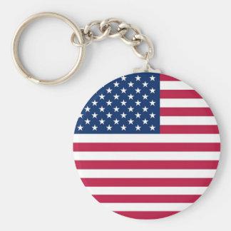 Chaveiro com a bandeira dos EUA