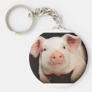 Chaveiro com imagem do porco