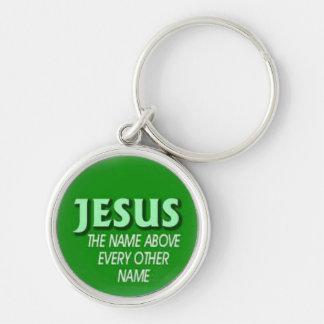 chaveiro com slogan bíblico