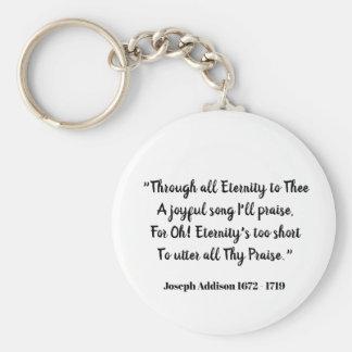 Chaveiro Com toda a eternidade a Thee (declaração do amor)