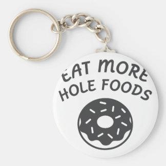 Chaveiro Coma mais alimentos do furo