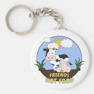 Chaveiro Comida dos amigos não - vaca bonito, porco e