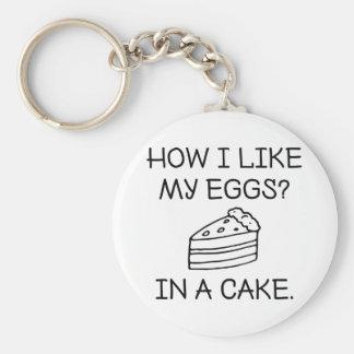 Chaveiro Como eu gosto de meus ovos
