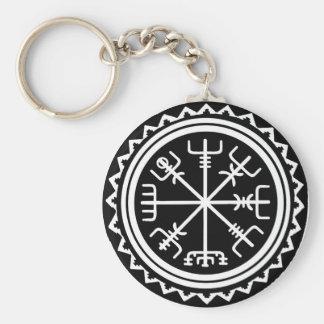 Chaveiro Compasso de Viking Vegvisir