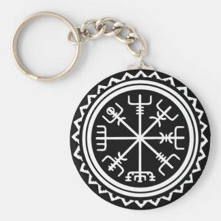 Chaveiro Compasso náutico de Viking Vegvisir