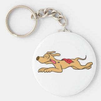 Chaveiro Competência de cão do galgo dos desenhos animados