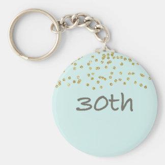 Chaveiro Confetes do aniversário de 30 anos