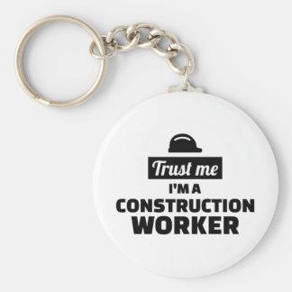 Chaveiro Confie que eu mim é um trabalhador da construção