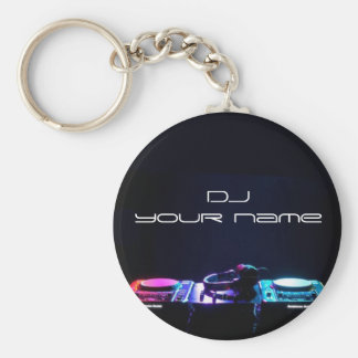 Chaveiro conhecido personalizado do DJ